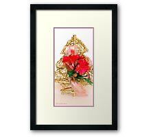 Gold Christmas Tree Framed Print