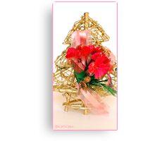 Gold Christmas Tree Canvas Print