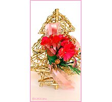 Gold Christmas Tree Photographic Print