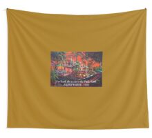 tree bar sunset - Agnes Water 1770 Wall Tapestry