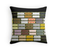 RAGGY QUILT cheater design, gifts and decor Throw Pillow