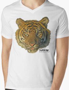 Sumatran tiger Mens V-Neck T-Shirt
