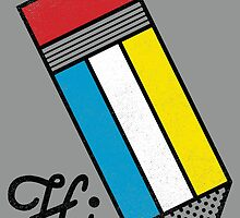 Mondrian: Greeting #1 by BeanePod