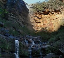 Wentworth Falls in the Lords Blue Mountains,Australia by STEPHEN GEORGIOU