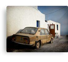 Deadcar on Santorini Canvas Print