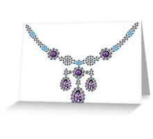 Ice Queen Necklace Greeting Card