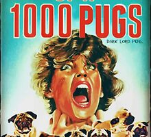 1000 pugs by darklordpug