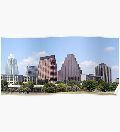 Downtown Austin, Texas Cityscape Poster