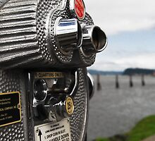 long range binoculars 25 cents by robyn delorme