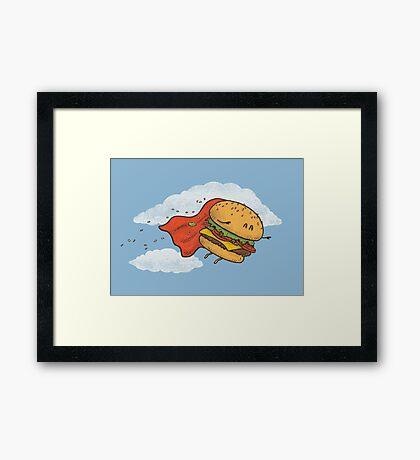 Superburger! Framed Print