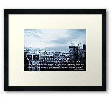 Getting Drunk Framed Print