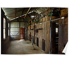 Old Shearing Shed Poster