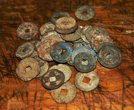 chinese old coins by dominiquelandau