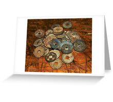 chinese old coins Greeting Card