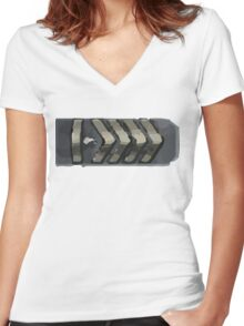 Silver elite master Women's Fitted V-Neck T-Shirt