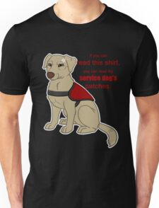 If you can read this - Service Dog Unisex T-Shirt