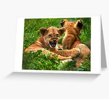 I'd be lion to you... Greeting Card
