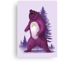 Scare Bear  Canvas Print