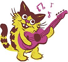 Clive the Musical Cat Photographic Print