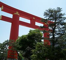 Red Torii Gate - Kyoto, Japan by Craftymizz