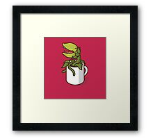 Audrey II, Don't Give Coffee to the Plant! Framed Print