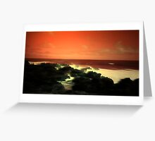Under A Blood Red Sky Greeting Card