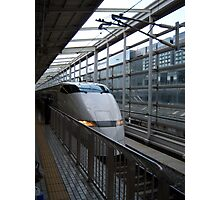 Japans Bullet Train at Kyoto Station Photographic Print