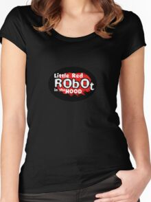 Little Red Robot Logo Tee (RED) Women's Fitted Scoop T-Shirt