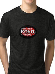 Little Red Robot Logo Tee (RED) Tri-blend T-Shirt