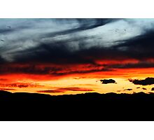 painted sky Photographic Print