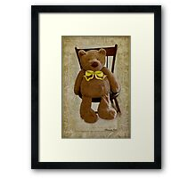 Storybook Teddy Bear with a Ribbon Framed Print