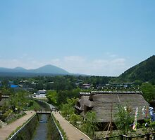 Samurai Village with Mount Fuji, Japan by Craftymizz