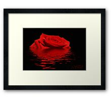 Drowning Rose Framed Print