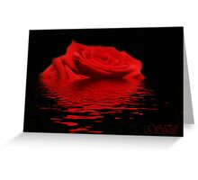 Drowning Rose Greeting Card