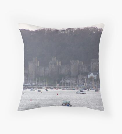 Conwy castle.  Throw Pillow