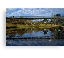 Uni  Footbridge. Canvas Print