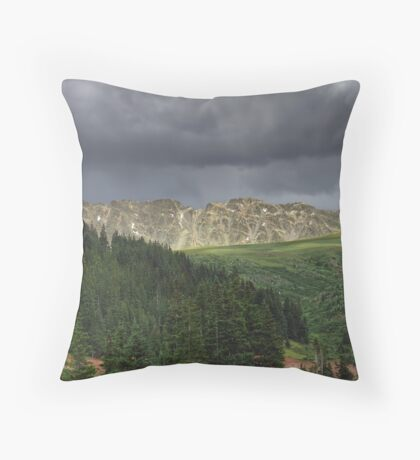 Afternoon Thunderstorm -- Continental Divide, Colorado Throw Pillow