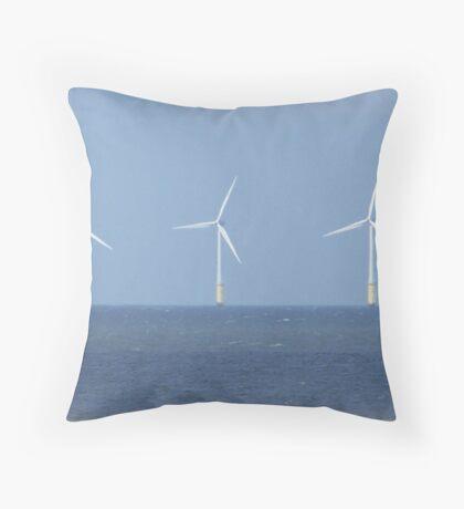 Wind farm. Throw Pillow