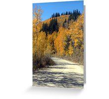 Boreas Pass Road Greeting Card