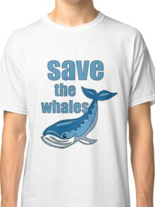 save the whales Classic T-Shirt
