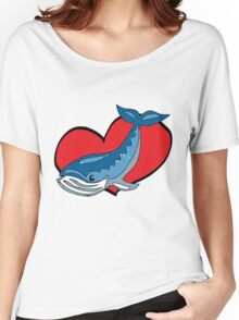 i heart whales Women's Relaxed Fit T-Shirt