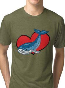 i heart whales Tri-blend T-Shirt