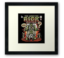 The Infected Rick Framed Print