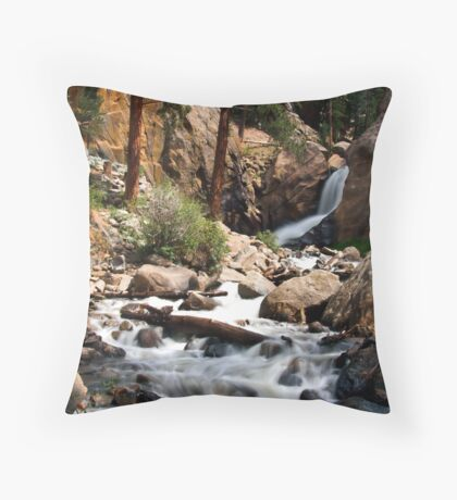Boulder Falls #2 Throw Pillow