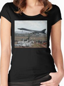 B1 Take-off @ Avalon Airshow Women's Fitted Scoop T-Shirt