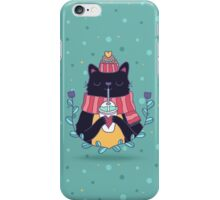 Winter cat iPhone Case/Skin