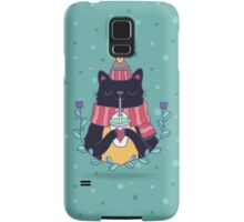 Winter cat Samsung Galaxy Case/Skin