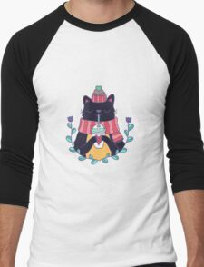 Winter cat Men's Baseball ¾ T-Shirt