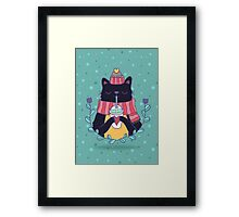 Winter cat Framed Print