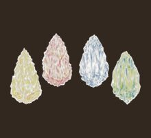 Bravely Default Elemental Crystals Watercolor by aini